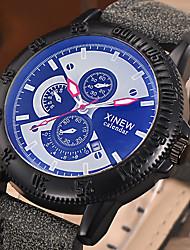 Недорогие -Мужской Нарядные часы Модные часы Наручные часы Цветной Светящийся Хронометр Панк Кварцевый PU Группа Винтаж Cool ПовседневнаяЧерный