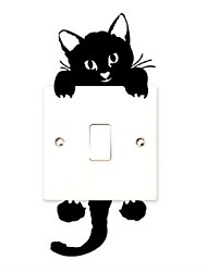 cheap -Cat,Wall Stickers, Light Switch Decor Decals, Art Mural Baby Nursery Room