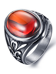 cheap -Men's Women's Statement Ring Personalized Vintage Fashion Synthetic Gemstones Zircon Titanium Steel Costume Jewelry Daily Casual