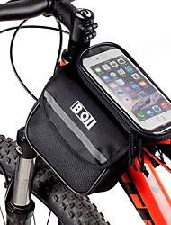 cheap -BOI Bicycle Mobile Phone Bag 4.8 Inch Touch Screen MTB Road Bike Top Frame Pannier Cycling Storage Bycicle Bolsa