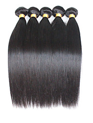 Natural Color Hair Weaves Brazilian Texture Straight 12 Months 5 Pieces hair weaves