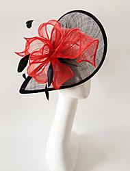 abordables -plumes de lin fascinators bandeau élégant style féminin classique