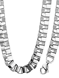 Trendy  316L Stainless Steel 4.2MM Square Box Chain Chunky Necklace Bracelet Fashion Jewelry Sets For Men NB60017
