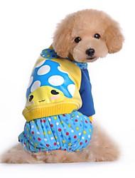 economico -Cane Tuta Abbigliamento per cani Romantico Casual Cartoni animati Rose Blu Costume Per animali domestici