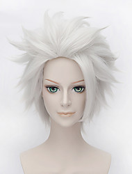 cheap -Fashion Short Curly Wig White Color Synthetic Cosplay African American Wig