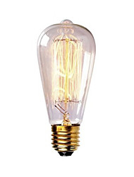 cheap -1pc 40W E26 / E27 ST58 Warm White 2300k Retro Dimmable Decorative Incandescent Vintage Edison Light Bulb 220-240V