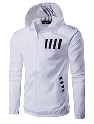 Men's Sport Active Spring Fall Jacket,Letter Hooded Long Sleeve Regular Cotton