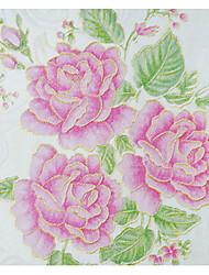 baratos -papel de parede Tecido Não-Tecelado Revestimento de paredes - adesivo necessário Floral / Árvores / Folhas / Art Deco