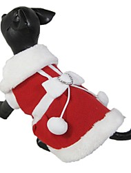 Chat Chien Robe Vêtements pour Chien Noël Nœud papillon Rouge Costume Pour les animaux domestiques