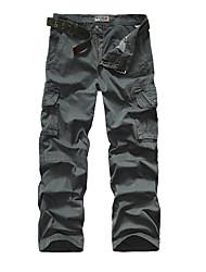 economico -Pantaloni della tuta Uomo Casual / Attività sportive Mimetico Cotone Nero / Verde / Arancione / Grigio