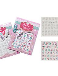 1pc Nail Art Sticker Decalques de transferência de água maquiagem Cosméticos Prego Design Arte