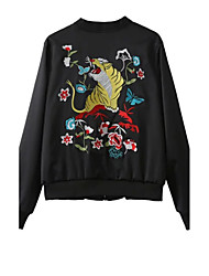 cheap -Women's Chinoiserie Bomber Jacket Embroidered