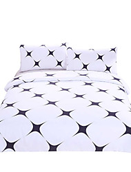 Bedding Set Simple Style Bed Cover for Living Room Bedclothes Black Star Printed Soft Linen 3Pcs