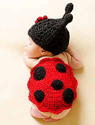 cheap -Newborn Prince Vintage Photography Prop Birthday Knitting Beetle Hat and Pants(0-6Month)