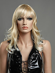 Blonde Color Long Curly Wig Capless Synthetic Wigs For Afro Women