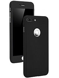 cheap -Case For Apple iPhone X iPhone 8 Shockproof Other Full Body Cases Solid Color Hard PC for iPhone X iPhone 8 Plus iPhone 8 iPhone 7 Plus