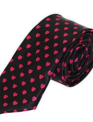 Men Polyester Silk Leisure Jacquard Necktie Tie for Wedding Party