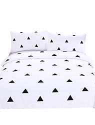 Bedding Geometric Duvet Cover Set Black and White Home Textiles Simple Printed 3Pcs Twin Full Queen King