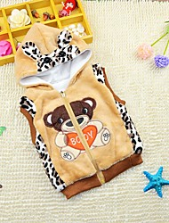 Boy's Casual/Daily Animal Print VestCotton Winter / Fall Brown / Yellow