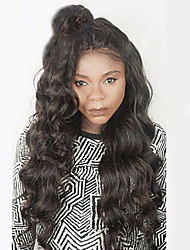 cheap -Human Hair Full Lace Wig Wavy Wig Natural Hairline / African American Wig / 100% Hand Tied Women's Short / Medium Length / Long Human Hair Lace Wig
