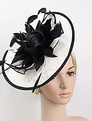 cheap -Feather Net Fascinators 1 Wedding Special Occasion Headpiece