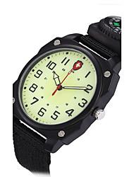 Muškarci Ručni satovi s mehanizmom za navijanje Vojni sat Sat uz haljinu Modni sat Kvarc Punk Svjetleći Kompas Materijal Grupa Vintage