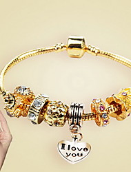 Bracelet Chain Bracelet / Charm Bracelet Alloy Heart Fashion Casual Jewelry  Gold1pc Christmas Gifts