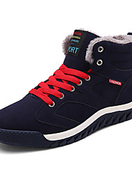 Men's Shoes Suede Fall Winter Comfort Boots Booties/Ankle Boots Lace-up For Casual Outdoor Green Dark Blue Black