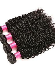 Malaysian Virgin Hair 4 bundles Weft Hair Malaysian Curly Hair Kinky Curly Human Hair Weaves Natural Color
