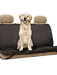 Dog Car Seat Cover Pet Mats & Pads Solid Waterproof Foldable Black