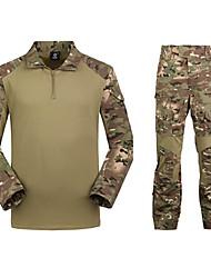 economico -Per uomo T-shirt mimetica da caccia Esterno Ompermeabile Compatto Set di vestiti Campeggio e hiking Caccia