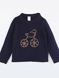 preiswerte -Pullover & Cardigan Alltag Solide Baumwolle Herbst Dunkelblau
