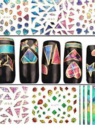 Недорогие -4 Стикер искусства ногтя 3D наклейки на ногти Абстракция макияж Косметические Nail Art Design