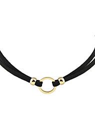 Dame Kort halskæde Tatovering Choker Læder Legering Tatovering Mode Boheme Stil Personaliseret Sølv Gylden Smykker ForFest Daglig