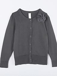 povoljno -Pamuk Jednobojni Dnevno Jesen Džemper i kardigan Tamno siva