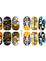 Fashion Charmming Halloween Noctilucent Goblin Candy Nail Decal Art Sticker Gel Polish Manicure