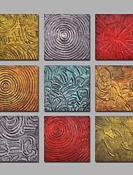 IARTS 9 Sets Handpainted Canvas Paintings Modern Abstract Artwork R2H