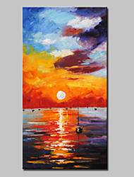 Large Size Hand Painted Modern Abstract Seaview Oil Paintings On Canvas Wall Art With Stretched Frame Ready To Hang
