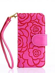 Pour Portefeuille / Porte Carte / Avec Support / Clapet / Relief / Motif Coque Coque Intégrale Coque Fleur Dur Cuir PU AppleiPhone 7 Plus