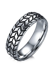 cheap -Men's Band Ring Jewelry Black Titanium Steel Personalized Vintage Fashion Daily Casual Costume Jewelry