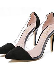 Damen Schuhe Vlies Sommer High Heels Stöckelabsatz Für Normal Schwarz Rot Blau