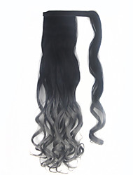Недорогие -На клипсе Искусственные волосы Волосы Наращивание волос Волнистый