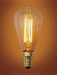 ST48 E14 40W Incandescent Vintage Light Bulb for Household Bar Coffee Shop Hotel (AC220-240V)