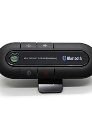 cheap -Bluetooth Car Kit Wireless Bluetooth Slim Magnetic Handsfree Car Kit Speaker Phone Visor Clip Bluetooth Aux High Quality