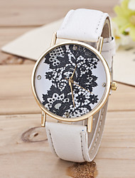 cheap -Women's Multicolor Black Flower Gold Shell Belt Fashion In Geneva Quartz Watch