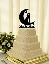 Недорогие -Украшения для торта Классика Классическая пара Акрил Свадьба с Цветы 1pcs Подарочная коробка