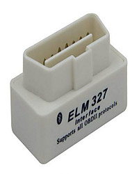 mini-ELM327 branco super com marcador Bluetooth instrumento de diagnóstico OBD do scanner