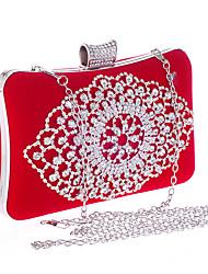 Kvinder Tasker Polyester Aftentaske Krystaldetaljering for Bryllup Fest Alle årstider Blå Guld Sort Rød Rosa