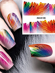 cheap -Fashion Printing Pattern Color Focus Water Transfer Printing Nail Stickers