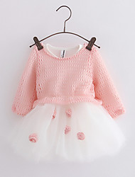 Girl's Going out Striped Dress,Cotton Spring Fall Long Sleeve